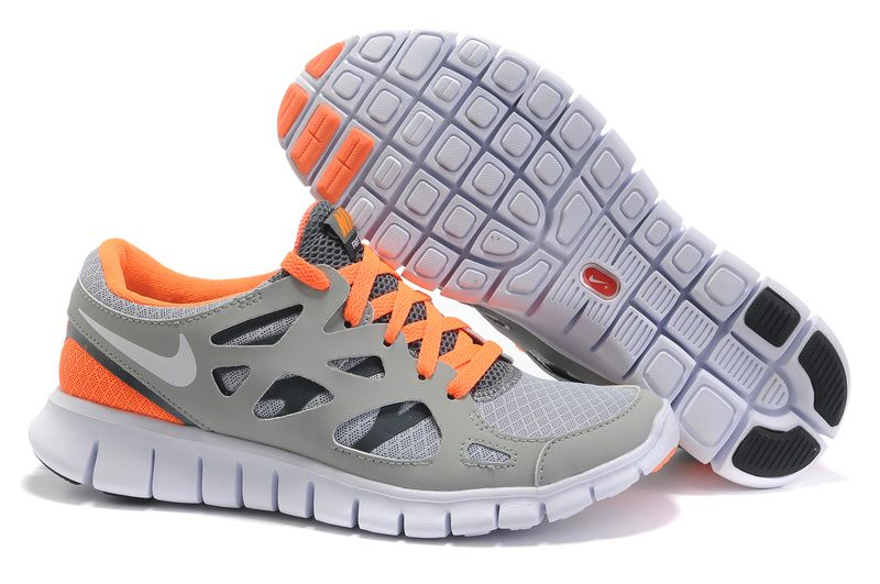 Nike Pro Shoes With Free Run 2 Peach Cream White Wolf Grey Platinum