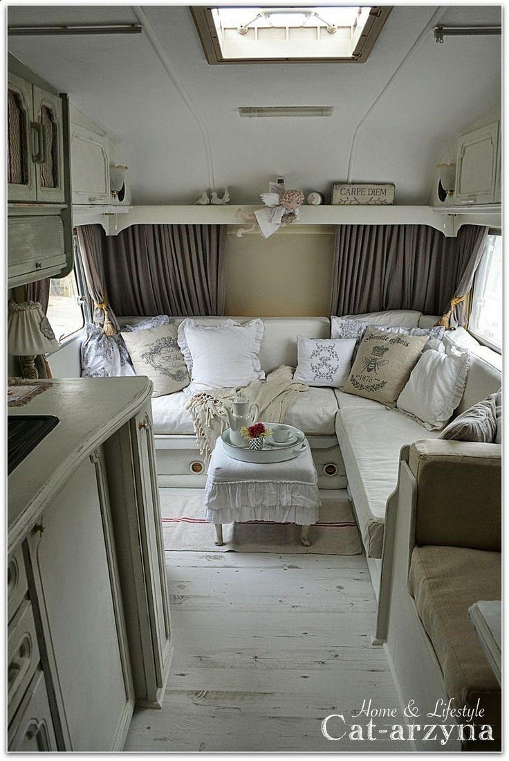 cottage on wheels ii klassieke aanhangwagens kampeerwagens vintage luchttoevoer vintage camper interieur