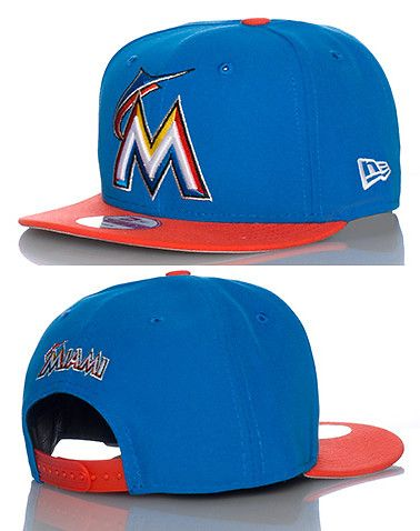 NEW ERA MENS MIAMI MARLINS SNAPBACK CAP JJ EXCLUSIVE Multi-Color ... f81fd33025a