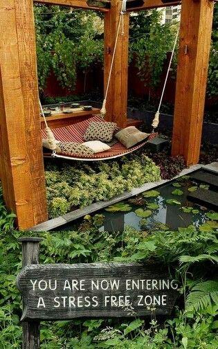 Calm backyard