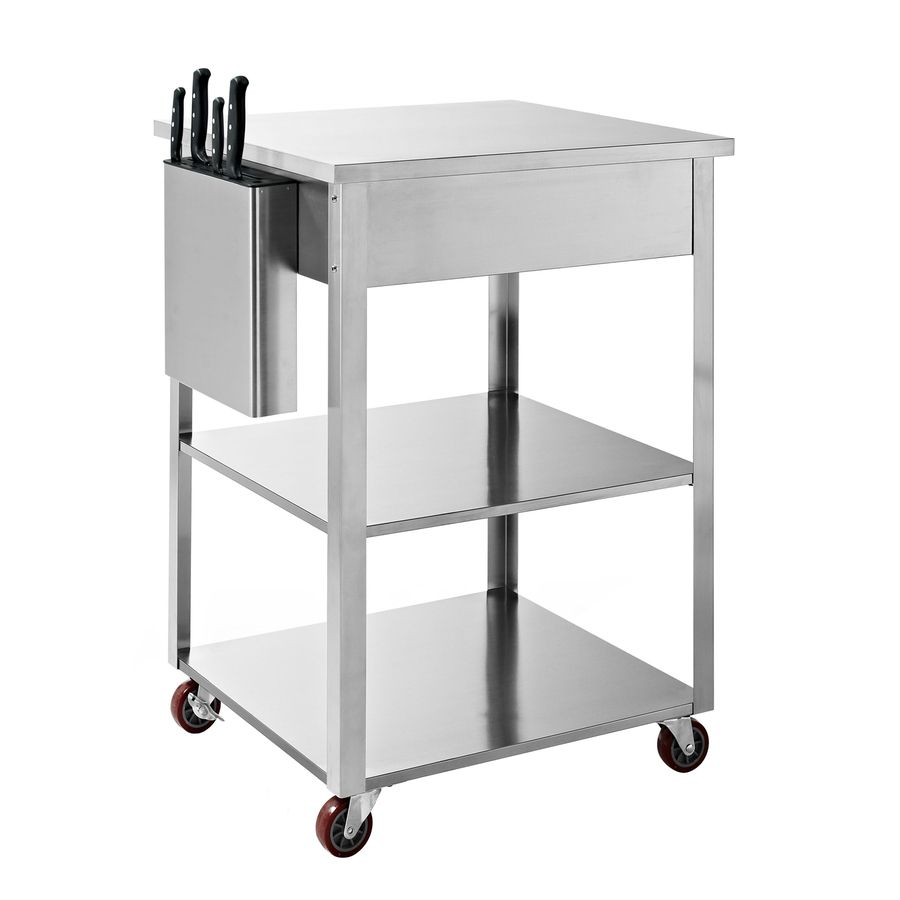 Shop Crosley Furniture Stainless Steel Rectangular Kitchen Cart At