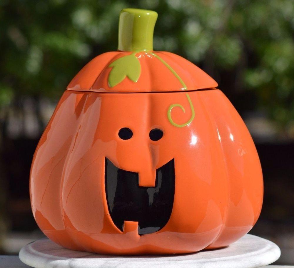 Large Ceramic Pumpkin Jack O Lantern