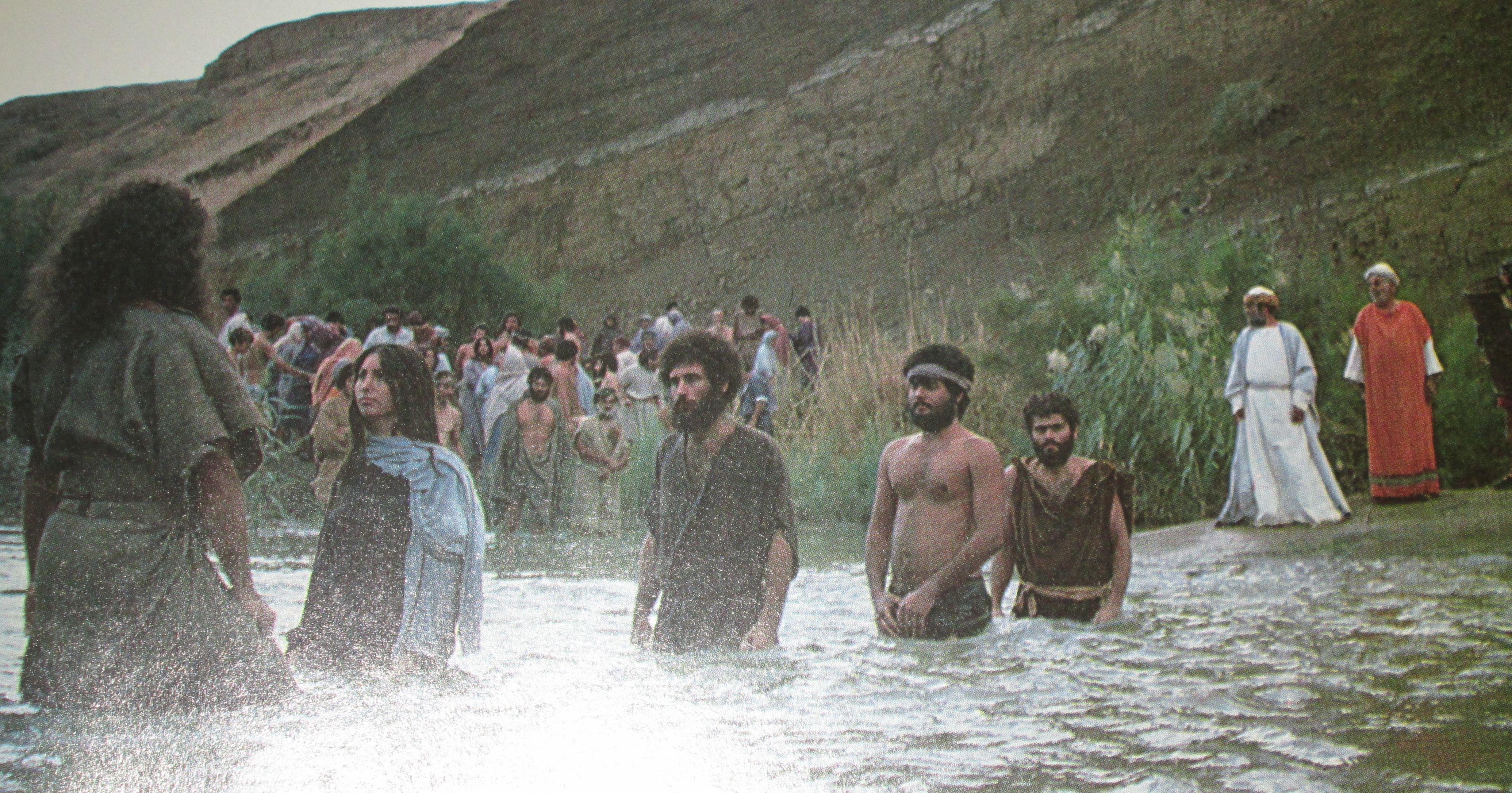 john the baptist scene at the river baptising people google