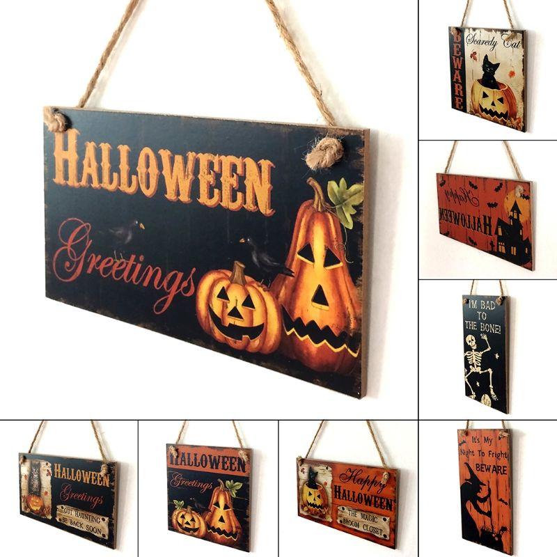Halloween Decoration HAPPY HALLOWEEN Hanging Hangtag Halloween - halloween window decorations