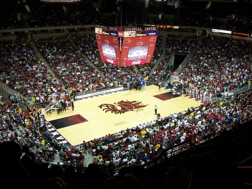 University Of South Carolina Colonial Center Columbia Sc Kentucky Basketball Usc Basketball Houston Basketball