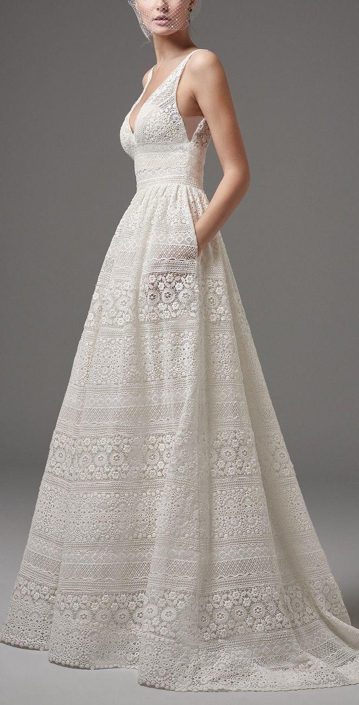 Sottero und Midgley – EVAN, dieses schicke Boho-Hochzeitskleid verfügt über …..