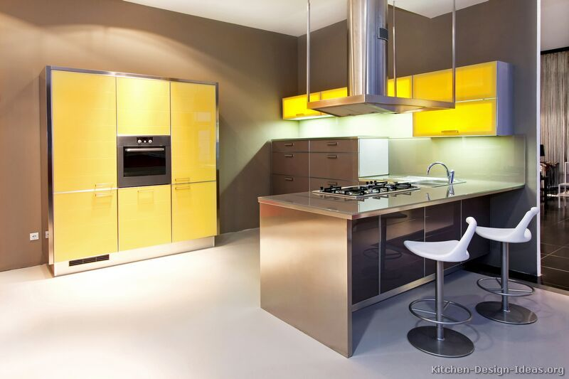 Kitchen Design Ideas Org Simple Modern Yellow Kitchen Cabinets #tt28 Kitchendesignideas Inspiration