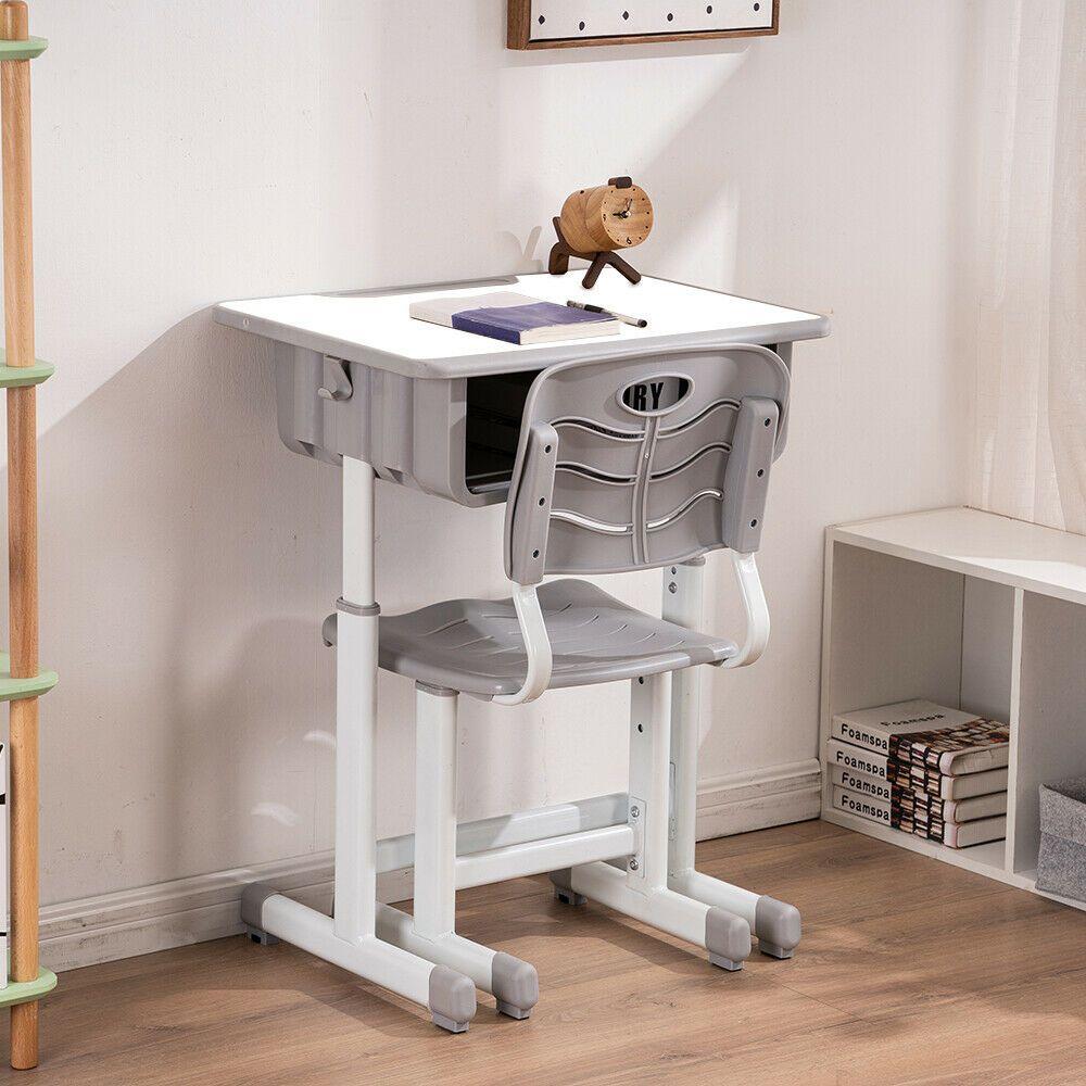 Adjustable Children Desk Wiht Chair Kids Table With Chair Set
