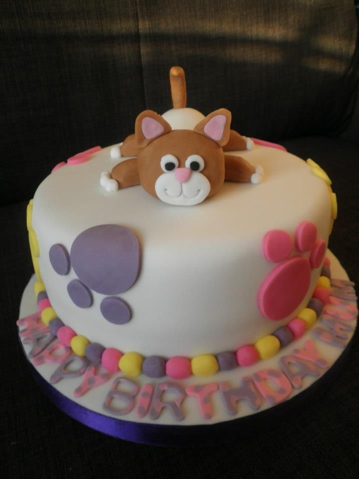 Cat Themed Birthday Cake