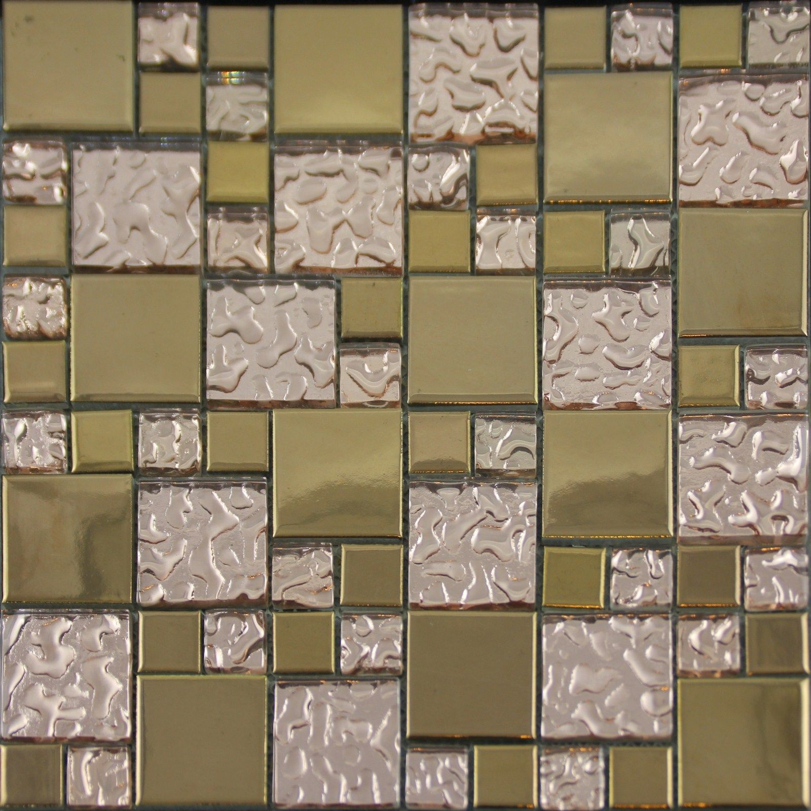 Gold Porcelain Tile Designs Bathroom Wall Copper Glass Mosaic