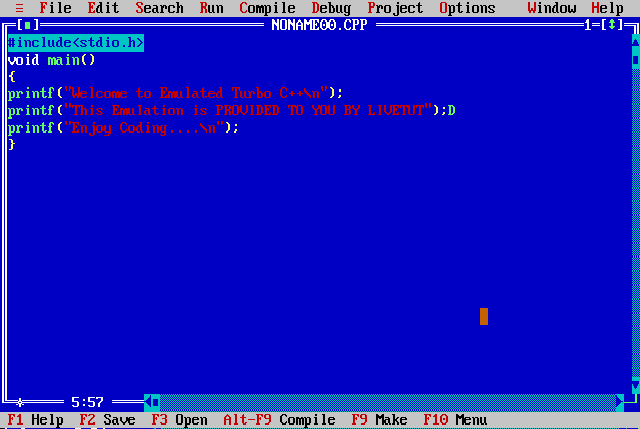 Turbo c++ compiler