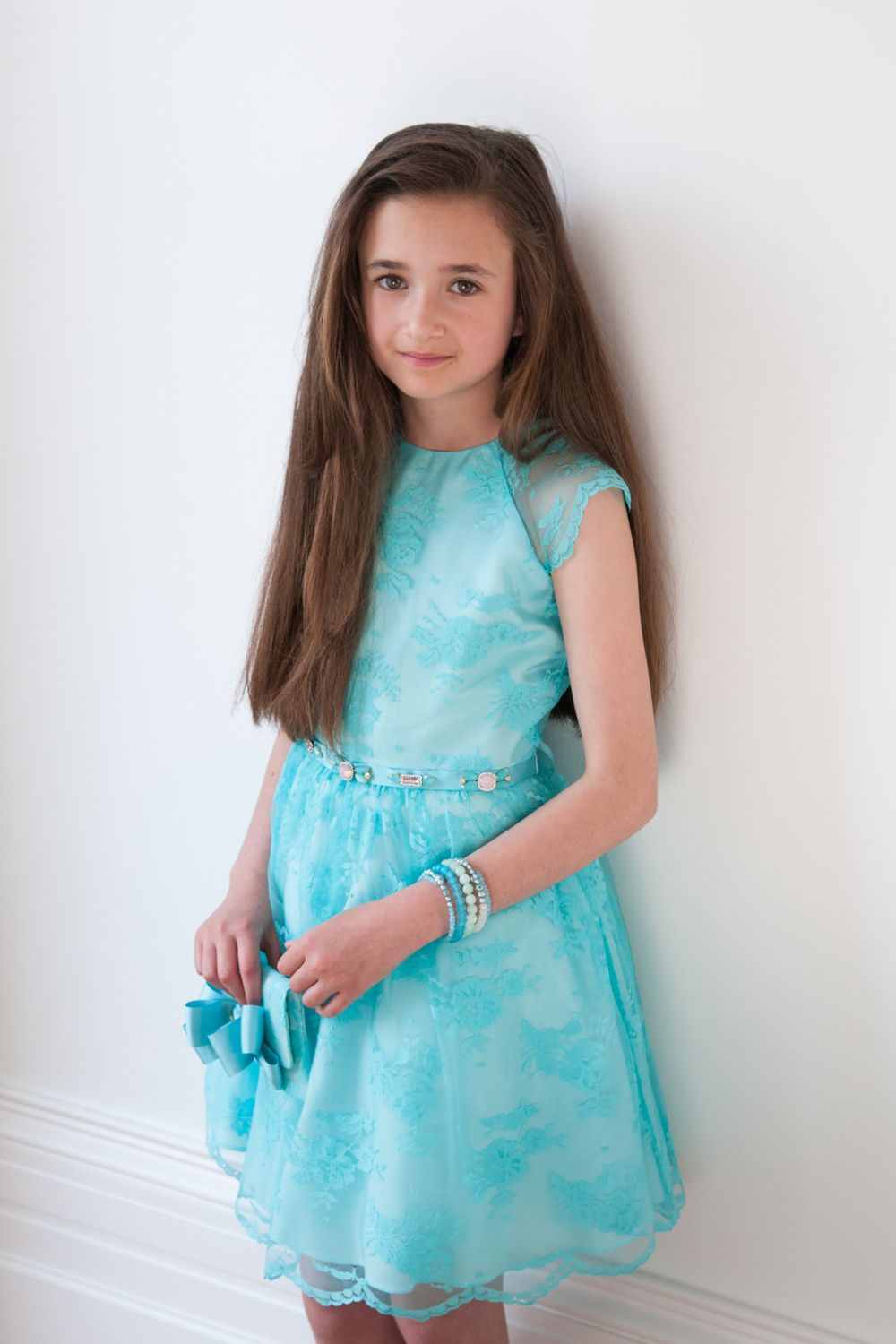 Turquoise Girls Dream Dress | Occasion wear dresses, Light turquoise ...
