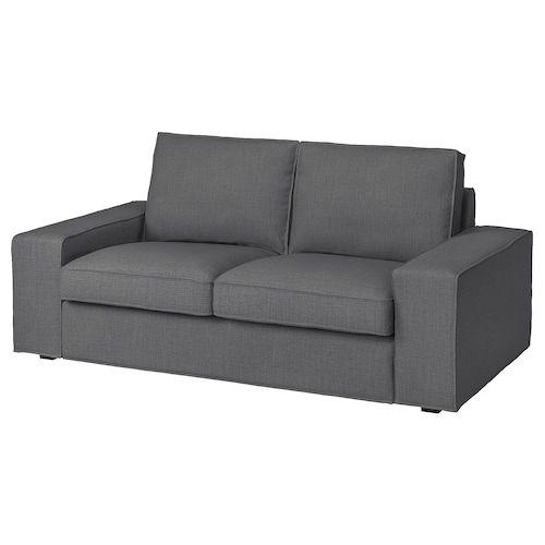 Divano In Memory Foam.Kivik Sofa Skiftebo Dark Gray Ikea In 2020 Love Seat Loveseat Covers Ikea Kivik