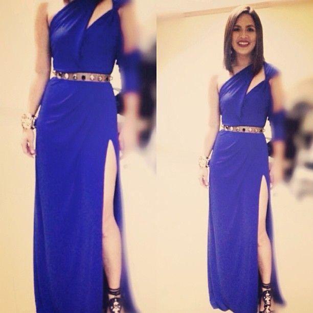 Judy Ann Santos Wedding Gown: Ms Judy Ann Santos In Cool Cobalt
