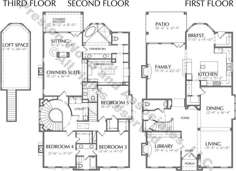 2 1 2 Story House Plan D1124 Two Story House Plans Story House House Plans