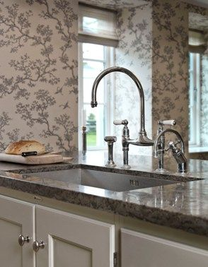 Wallpaper in the kitchen | For my new kitchen | Pinterest ...