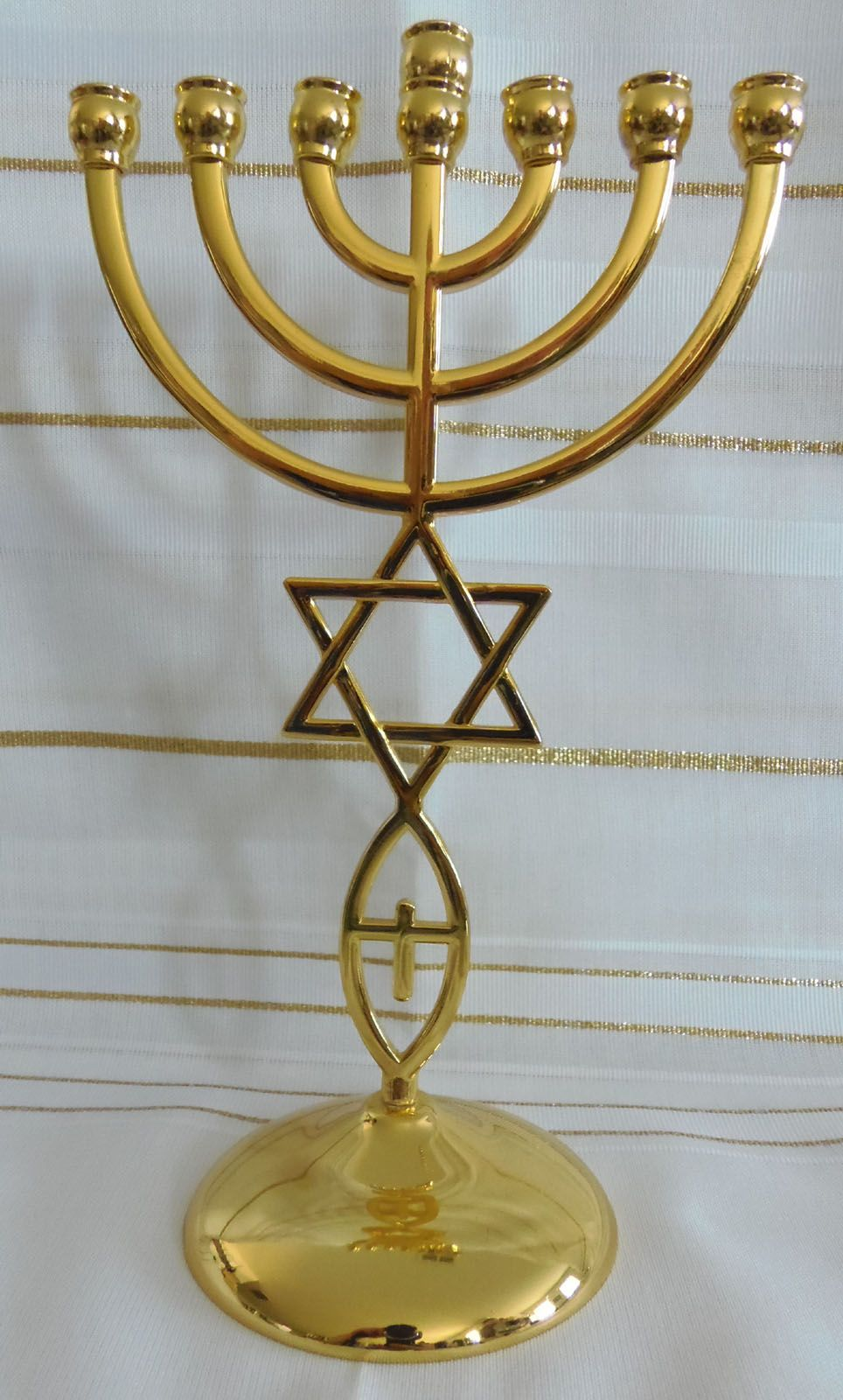 Gold messianic hebraic roots seven branch temple menorah 9 inches gold messianic hebraic roots seven branch temple menorah 9 inches tall biocorpaavc Image collections