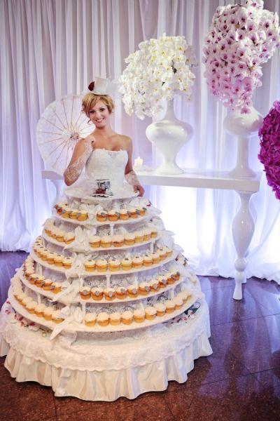 muffins vestido de novia revista gente - boda