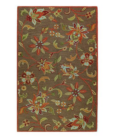 Take a look at this Chocolate Starflower Rug by Bashian on #zulily today!