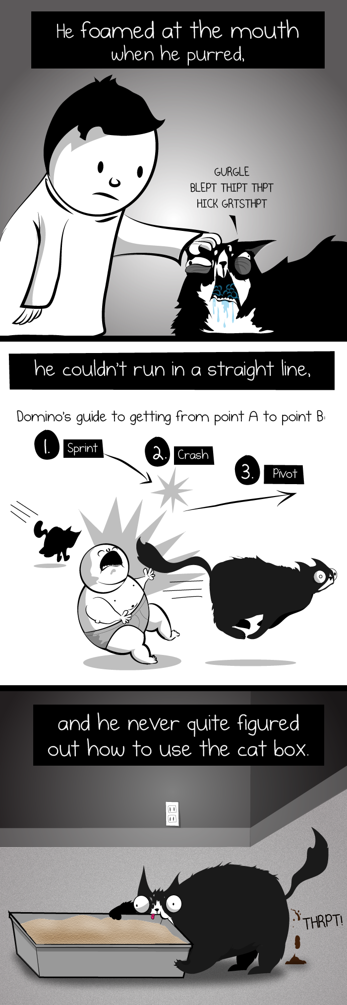 When your house is burning down, you should brush your teeth - The Oatmeal; This is a GREAT little comic story, a true life story, very well done. Funny and poignant.