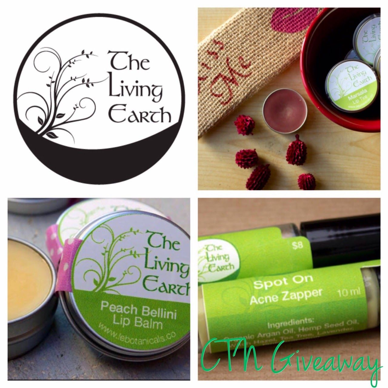 Living Earth Botanicals Giveaway and Review at Cheers to Novelty, open ww and ends 3/16/15.