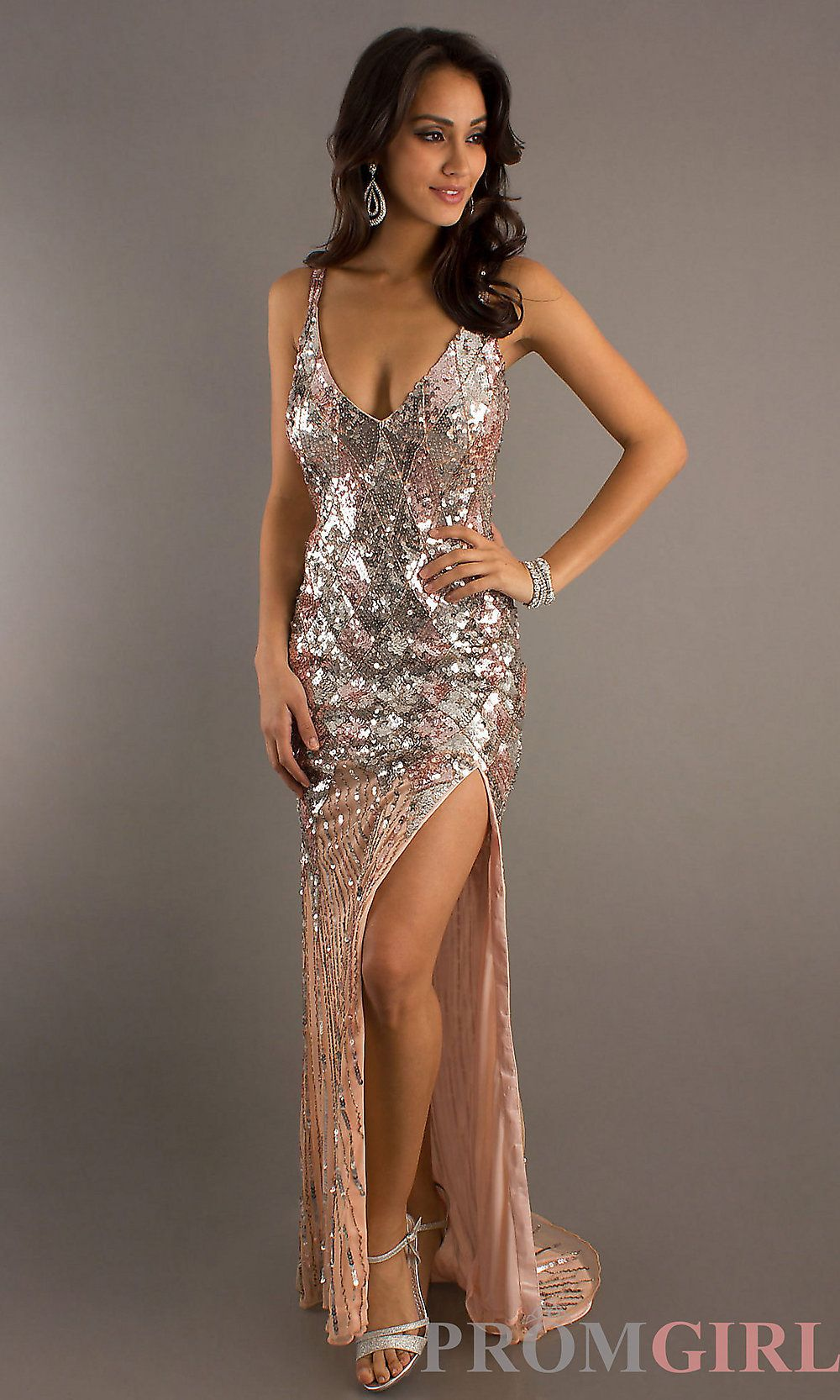 Long Sequin Prom Dresses, Primavera Sequin Formal Gowns- PromGirl ...