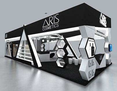 Cosmetic Exhibition Stand Design : Aris cosmetics booth design exhibition stall design booth