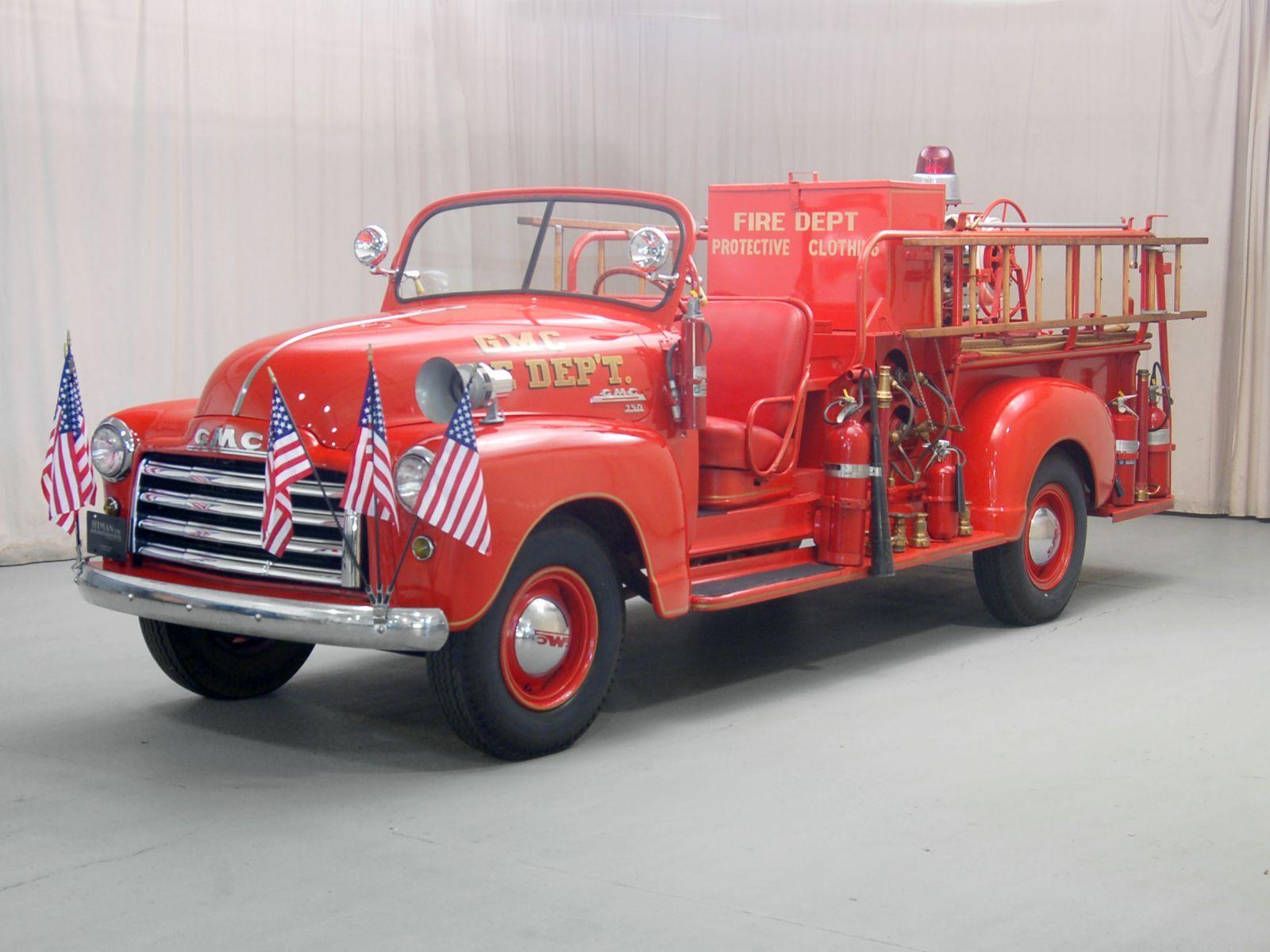 1948 Gmc Firetruck With Images Fire Trucks Gmc Truck Design