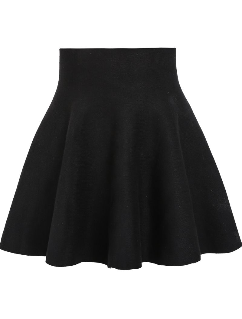 8a827b4586 Black skirt is stable for fall & winter outfit .Ruffle skirt with high  waist skirts can be so versatile for ladies .Romwe fashion style collect  all outfit ...