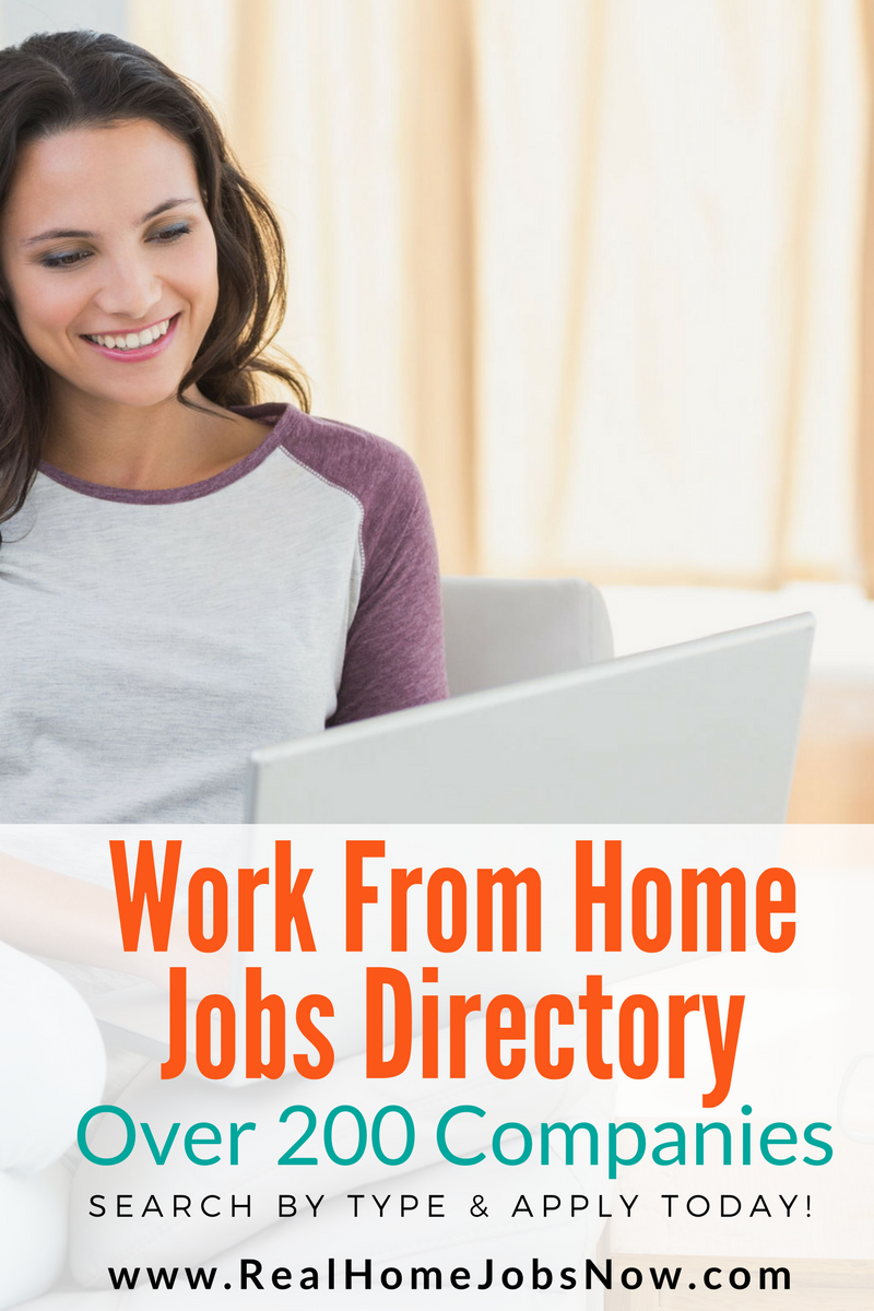 Legitimate Work From Home Jobs Directory With Over 200 Companies ...