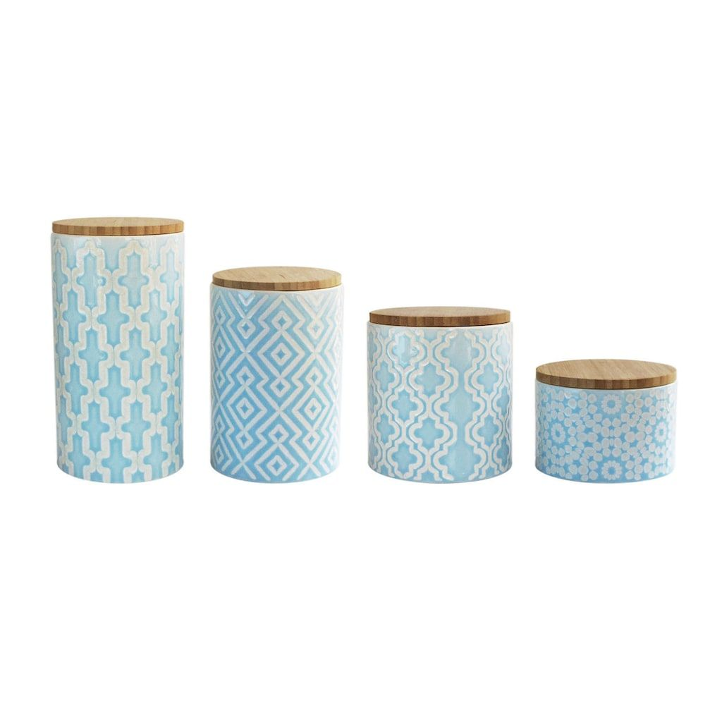 American Atelier Arabesque 4-pc. Canister Set, Blue   Canister sets ...