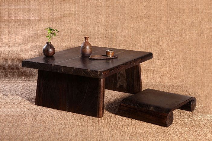 Delightful Japanese Antique Table Rectangle 80*70cm Paulownia Wood Asian Traditional  Furniture Living Room Low Floor