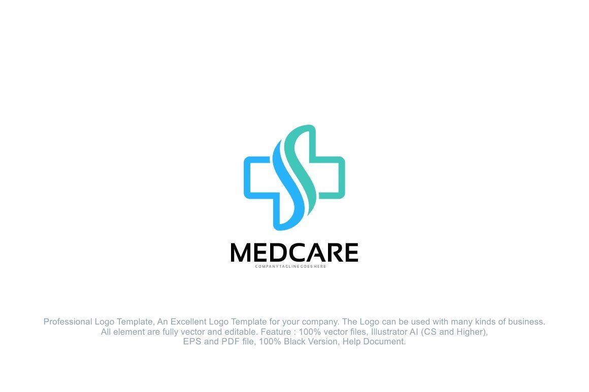 Medical healthcare letter s logo logo design template
