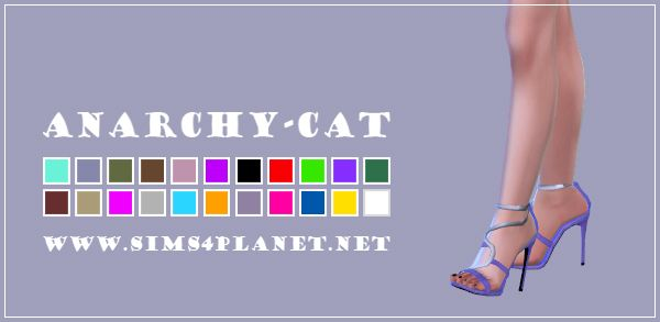 Anarchy-Cat: Madlen`s Mamba Sandals recolors • Sims 4 Downloads