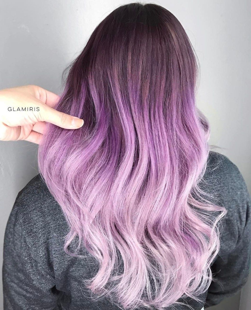 40 Cool Pastel Hair Colors In Every Shade Of Rainbow Purple Ombre Hair Pastel Purple Hair Lilac Hair