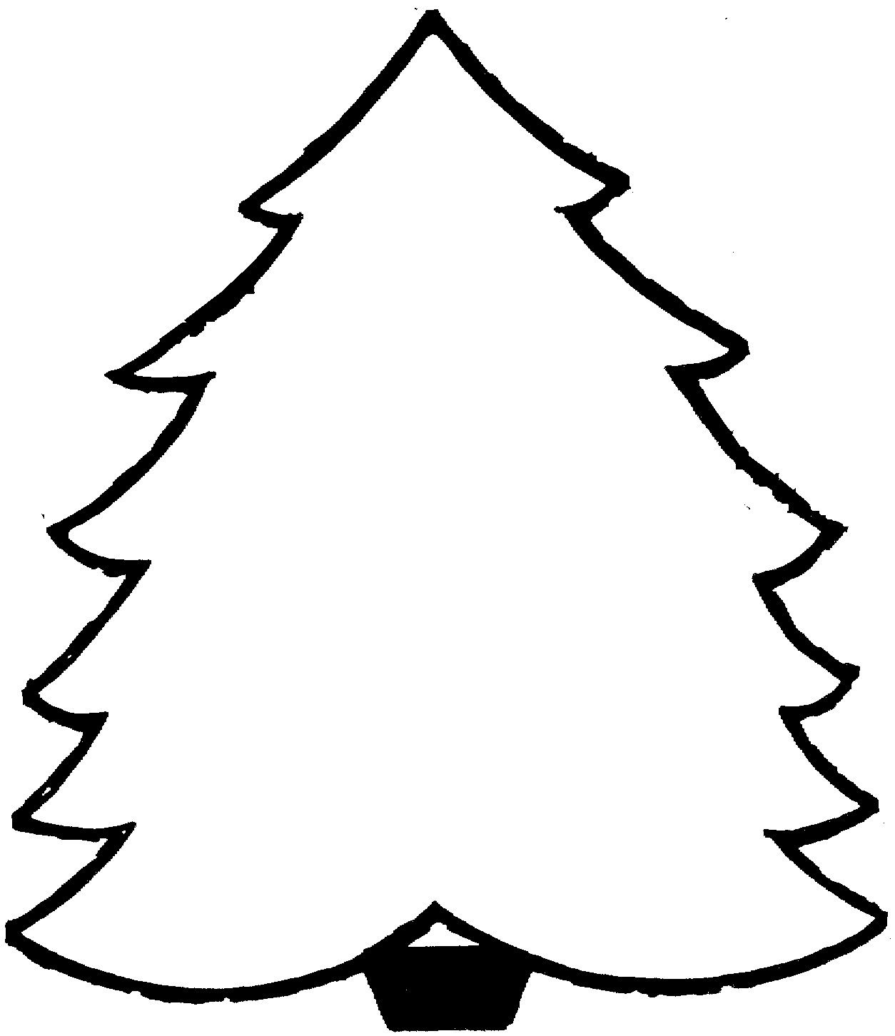 Christmas Tree Coloring Pages Printable | coloring pages | Pinterest ...