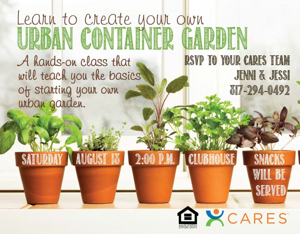 urban container garden flyer event flyers galore urban container garden flyer