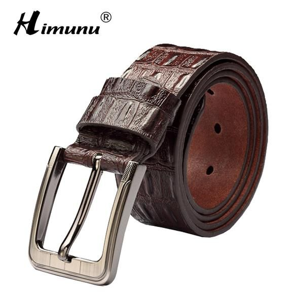 New product brand luxury retro pin buckle Head layer cowhide yellow belt  leather belts for men business cowboy belts Hot Sale cec2d5ed1f