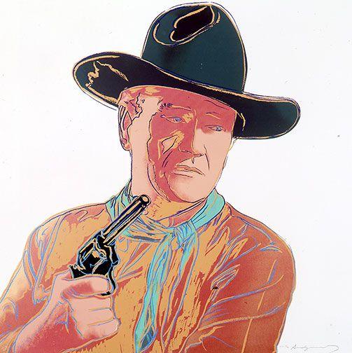 ANDY WARHOL John Wayne, 1986 (#377, Cowboys & Indians) unique trial-proof hand-signed screenprint