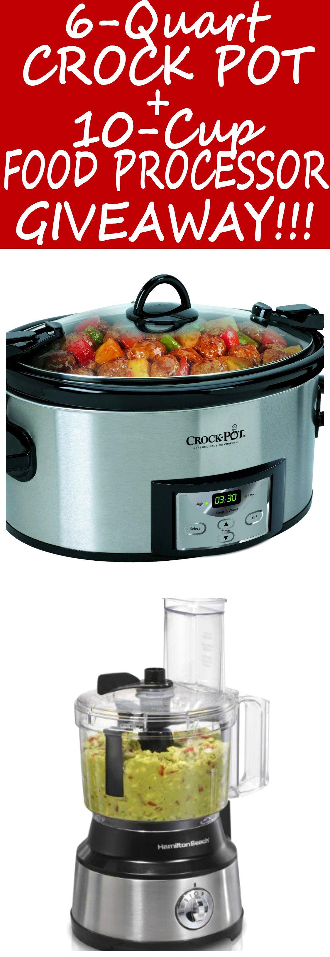 6quart crock pot and 10cup food processor giveaway www