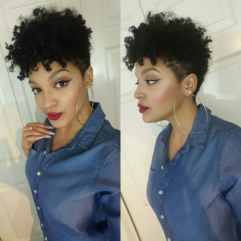tapered cut curly hair