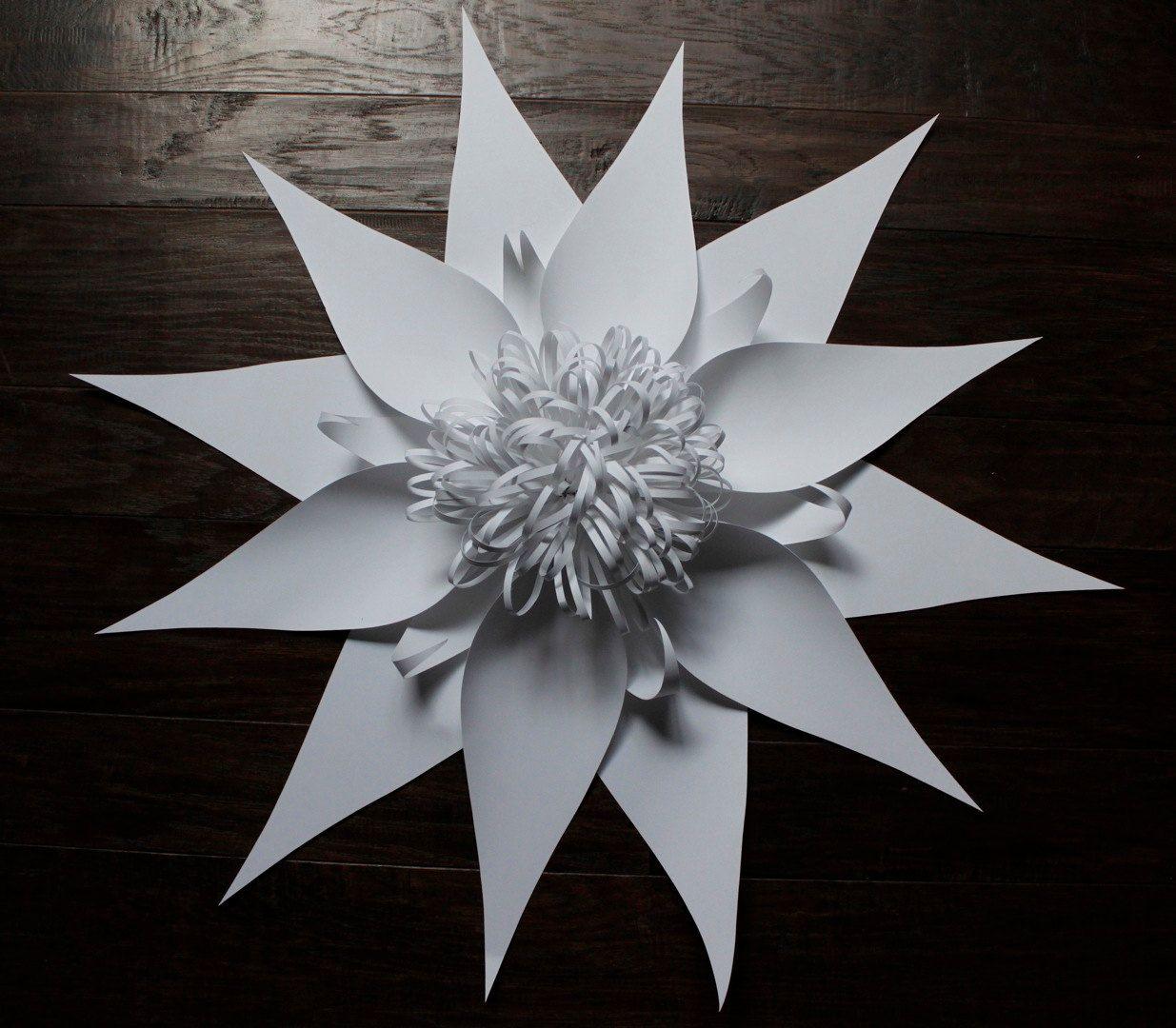 Paperflowerlargebybalushkaonetsy8000 Mous Pinterest
