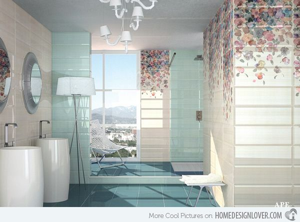 High Quality 15 Lovely Bathrooms With Decorative Wall Tiles