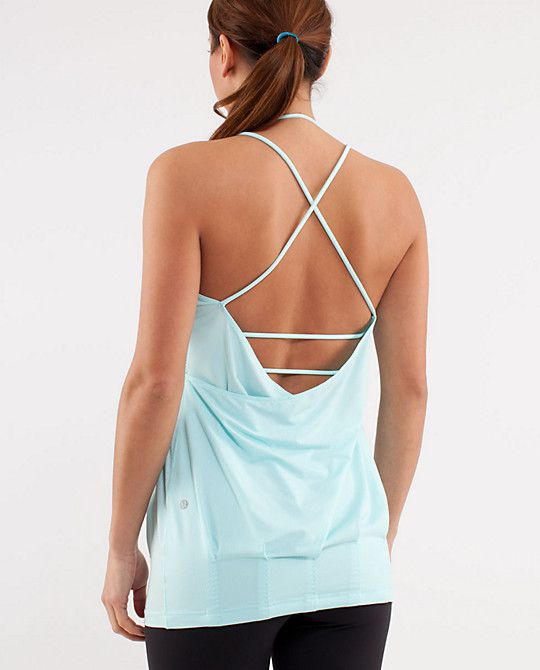 b07551f35d My latest lululemon love -- Flow and Go tank. It's made for flat-chested  gals ... So we can show off our backs! Will be great for workouts and  casual wear ...