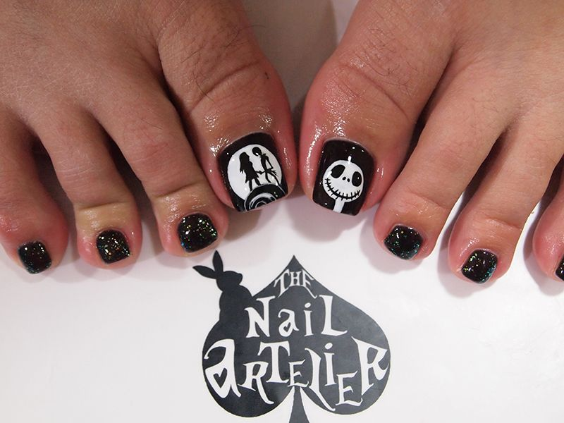 nightmare before christmas nails - Google Search