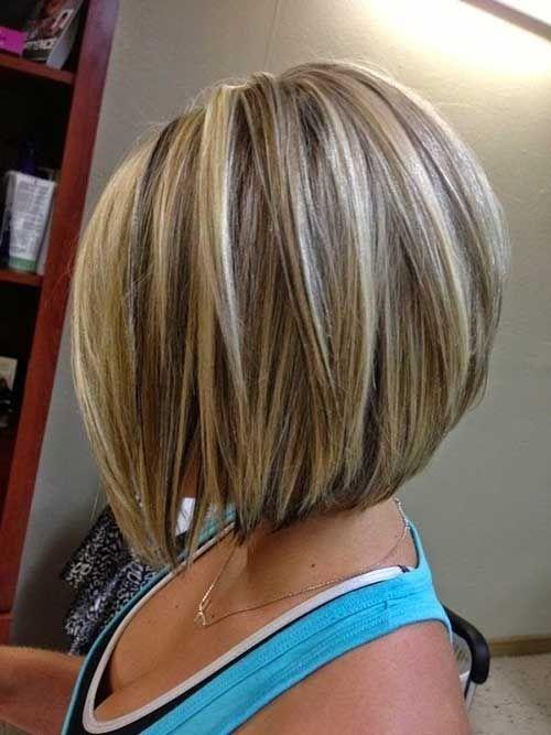 Short Blonde Bob With Highlights Haircuts Pinterest Short