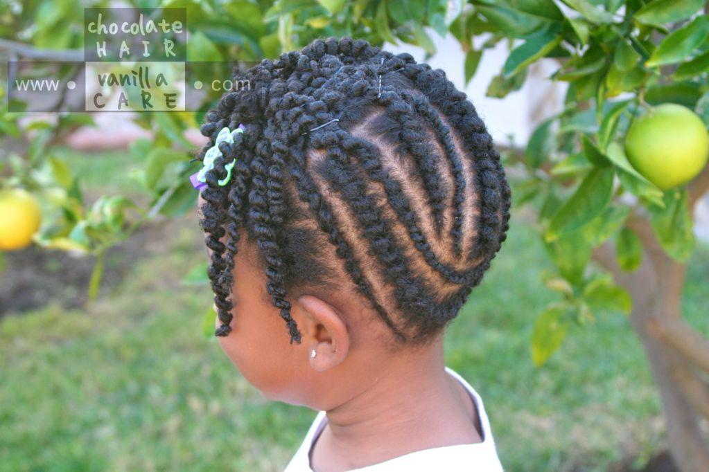 Ghana Plaits and Flat African Threaded Up-Do #NaturalHair #Hairstyle | Chocolate Hair / Vanilla ...