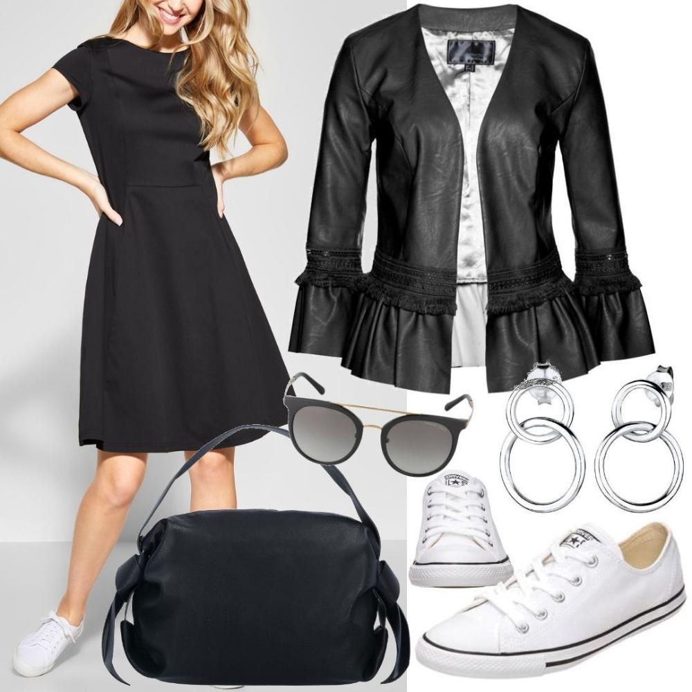 street one a-linien kleid schwarz women outfit für damen zum