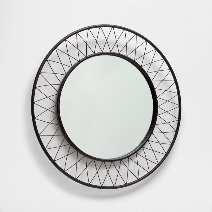 image 1 of the product round metal mirror wall zara. Black Bedroom Furniture Sets. Home Design Ideas