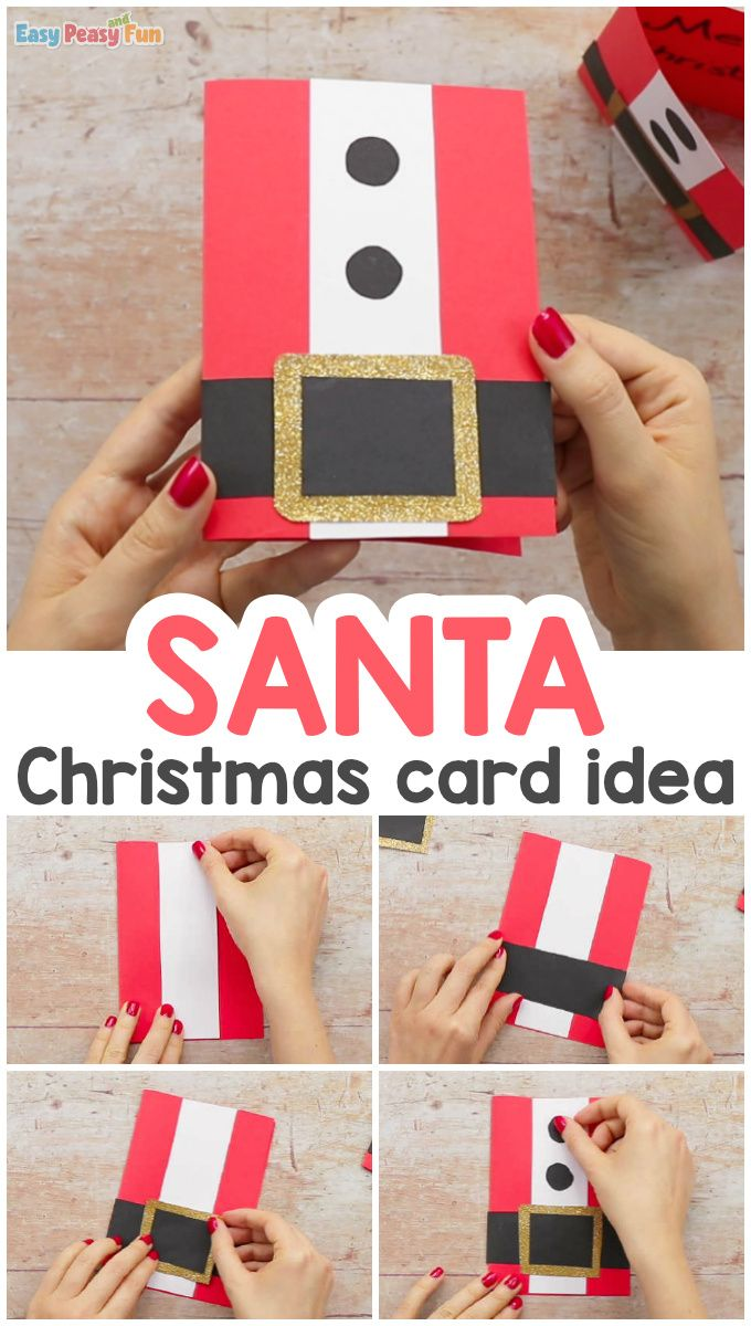 Simple Santa Christmas Card